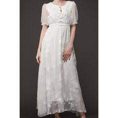 Wholesale Stylish High Waist Solid Color Short Sleeve Lace Dress For Women