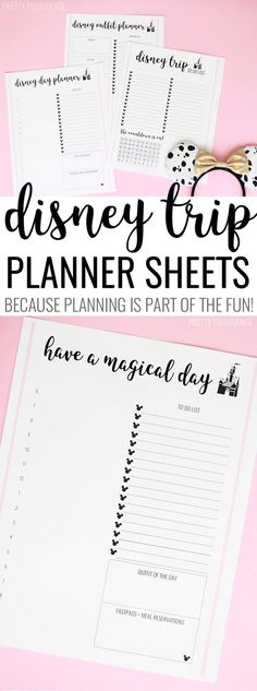 These free Disney trip planner sheets are so helpful when you're getting ready for a trip to Disney World or Disneyland! These free Disney trip planner sheets are so helpful when you're getting ready for a trip to Disney World or Disneyland! Disney Trip Planner, Disney Vacation Planning, Vacation Planner, Disney World Planning, Travel Planner, Trip Planning, Plan Disney World Trip, Vacation Ideas, Daily Planning