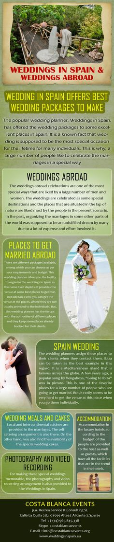 Weddings Abroad In Spain How To Arrange A Wedding Youre Arrangement FAQs Cost Of Weddingplanner About Us