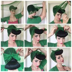 How To Tie A Vintage Hairscarf - Option 2