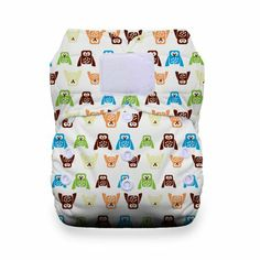 Amazon.com: Thirsties Duo All in One Cloth Diaper with Hook and Loop, Hoot, Size 2: Baby