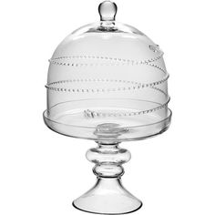 Display a decadent dessert underneath the cloche of this charming cake plate, or use it to showcase a miniature succulent.  Product:...