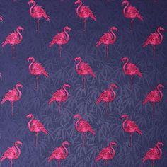 Flamingo wallpaper from Graham & Brown | Bathroom wallpaper | Bathroom | PHOTO GALLERY | 25 Beautiful Homes | Housetohome.co.uk