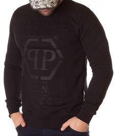 Philipp Plein Bluza 20th Annieve Edition - Neagra | Bluze | Bluze | Brande Philipp Plein, Men Sweater, Gucci, Graphic Sweatshirt, Sweatshirts, Model, Sweaters, Fashion, Moda