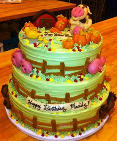 Farm Theme Tier Cake CakeFarm ThemeOccasion CakesWhole Food Recipes BakeryCake