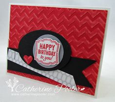 Catherine Pooler: Creativity Grows Here – masculine birthday card stampin' up - 6/16/13.  (SU: Label of Love stamps).