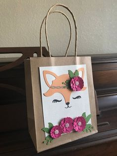 These adorable favor bags will add the perfect touch to your event. Colorful Flowers, Diy Flowers, Cricut Creations, 1st Birthday Girls, Woodland Party, Favor Bags, Animal Party, Inspirational Gifts, Baby Shower Parties