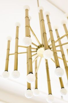 We need this brass bamboo fixture stat...love the Minkoff showroom. (photo: Jamie Beck)