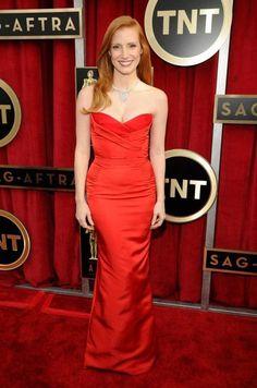 SAG Awards: Jessica Chastain In Alexander McQueen