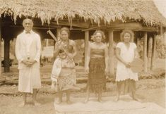 Samoa native women in traditional costume, 1920s (Please note it's NOT  a  costume but  part of their culture)