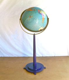 1960s Replogle 12 Reference Globe on Floor Stand by leapinglemming, $44.95
