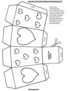 nl - crafts, crafts and another . - tarjetas - Craft box Valentine& Day – Craft page.nl – tinkering, tinkering and tinkering again. Valentine Activities, Valentine Crafts For Kids, Valentine Day Love, Crafts For Teens, Diy For Kids, Kids Activity Books, Book Activities, Valentine Coloring Pages, Craft Box