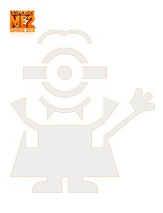 Despicable Me pumpkin carving template - Dang I wish I would have seen this sooner!