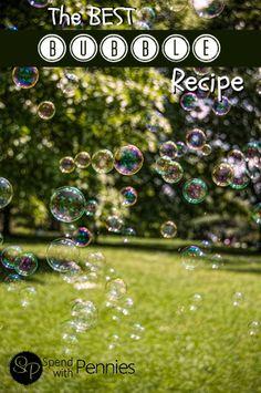 The BEST Bubble Recipe!!