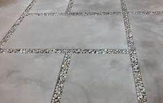 contemporary concrete patio designs - Google Search - big stone little stone