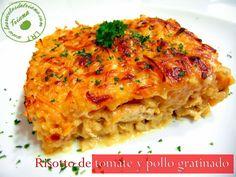 Las recetas de Triana: Risotto de tomate y pollo gratinado #RecetasSolidariasParaNavidad