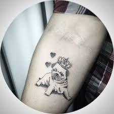 Resultado de imagem para tatuagem pug