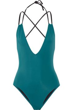 Solid and Striped - The Alexandra Halterneck Swimsuit - Jade - medium
