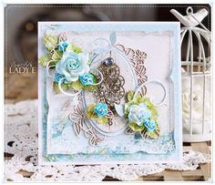 Scrap Art by Lady E: Card with Metal Embellishment