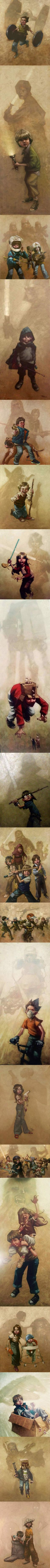 A Long Time Ago, In A Cul De Sac Far Far Away... by Craig Davison | I love it. It totally sums up a kid imagination.