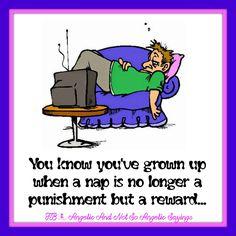#naptime #grownup   Visit us on Facebook... https://www.facebook.com/Angelicandnotsoangelicsayings