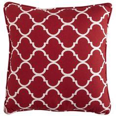 Cabana Geometric Pillow - Tomato