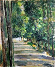 CÉZANNE site/non-site Paul Cézanne, El Paseo, 1880-1882(The Avenue) Sala de Exposiciones temporales del Museo Thyssen-Bornemisza.