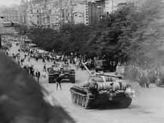 The events in Czechoslovakia in 1968 was a sort of a trailer of what was going to happen to the Soviet Union. But the Soviet tanks rolled .