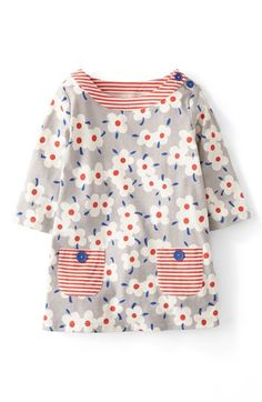Mini Boden Patch Pocket Print A-Line Tunic (Toddler Girls, Little Girls & Big Girls) available at #Nordstrom