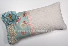 Seahorse Pincushion. Vintage Lace by BrynwoodNeedleworks on Etsy