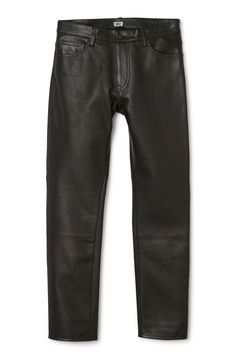 Weekday image 1 of Sharp Leather Trousers in Black