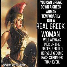 Greek women gotta love them! Greek Memes, Greek Quotes, Greek Sayings, Funny Greek, Badass Quotes, Funny Quotes, Woman Quotes, Life Quotes, Cousin Quotes