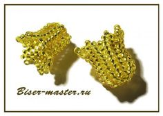 master class for flower caps. translate. #Seed #Bead #Tutorials