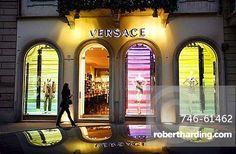 Versace fashion shop, Via Monte Napoleone 2  street, Milan, Italy, Europe