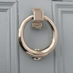 Polished Nickel Hoop Door Knocker