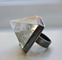 Crystal Pyramid ring.