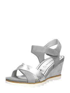 Tamaris suede dames sandalen met sleehak
