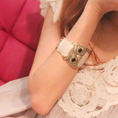 2015 new Arrived Europe and America High Quality Owl Bracelet For Women jewelry free shipping