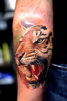 25 Tiger Portrait Tattoo