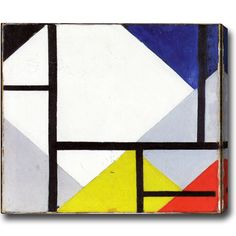 USA Theo van Doesburg 'Composition' Horizontal tract Oil-on-Canvas Art