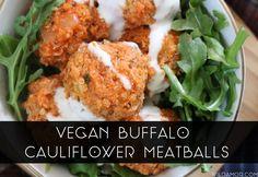 Buffalo Cauliflower Meatballs