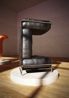 A Typeface Made Of Designer Furniture