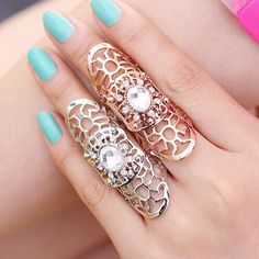 Crystal Knuckle Ring