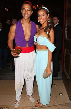 What you going to wish for? Marvin Humes flashed his chest at his wife, Rochelle's star-studded Disney themed birthday party at London's Steam and Rye restaurant on Saturday