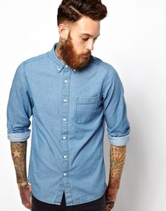 Discover our stylish men's shirts at ASOS. Shop our different shirt styles, from check to stripes, designer or dress shirts in a range of sleeve lengths. Hair Designs For Men, New Year Hairstyle, Gents Fashion, Shirt Hair, Haircuts For Men, Men's Haircuts, Professional Dresses, Casual Shirts, Men's Shirts