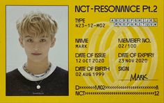 Date Of Expiry, Nct Group, Lee Min Hyung, Mark Lee, Nct 127, Photo Cards, Dating, Album, Shit Happens