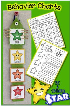 Shining Star Behavior Charts, Calendars & Rewards – EDITABLE Be A Shining Star! Perfect for all teaching styles and behavior levels. Star Behavior Charts, Behavior Chart Preschool, Classroom Behavior Chart, Kindergarten Behavior, Classroom Behavior Management, Behaviour Management, Behaviour Chart, Classroom Rules, Kids Behavior
