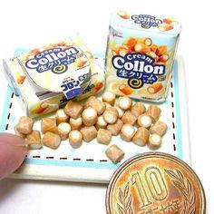 #miniaturefood #foodsamples #japanesesnack #polymerclay #collon #creamcollon