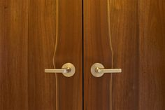 These doors are crafted from reclaimed walnut. The stiles were left with natural live edges therefore allowing the contrasting sap wood to show and create and more natural feel.