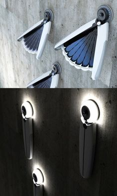 Am fascinated by this day/night #solar light. Collects the sun by day, and illuminates by night.